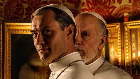 First Look At Jude Law And John Malkovich In The New Pope